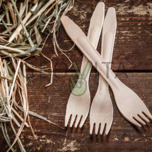 Деревянная вилка © GEOVITA - Одноразовая посуда от производителя!