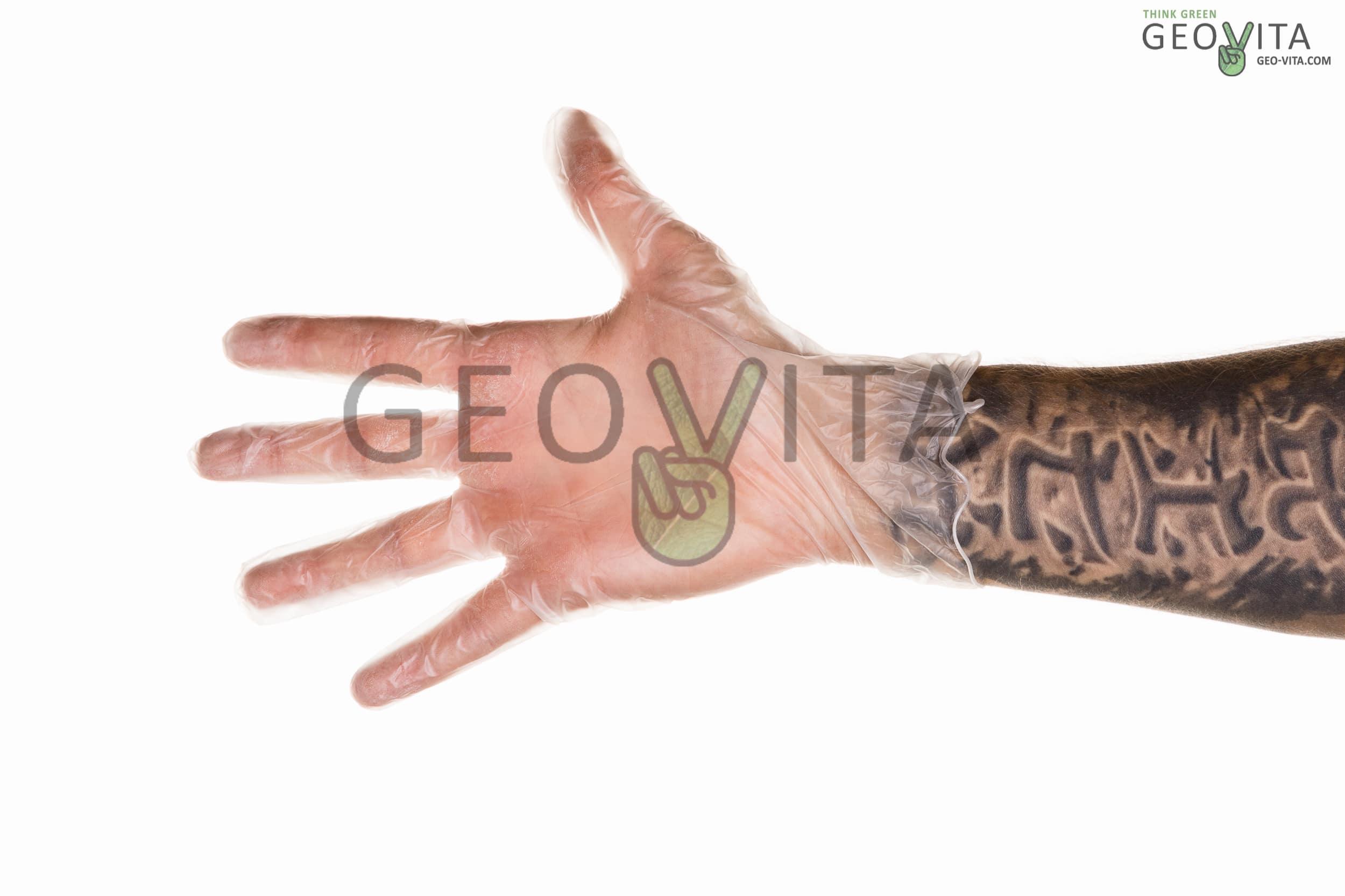 Перчатки виниловые © GEOVITA - Одноразовая посуда от производителя!