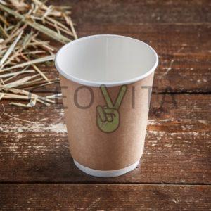 Стакан одноразовый двухслойный для кофе 350 мл © GEOVITA - Одноразовая посуда от производителя!