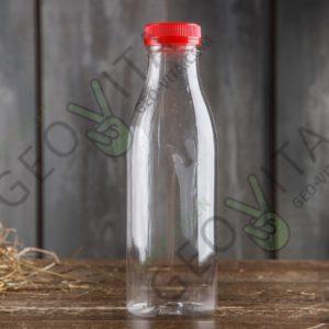 Пластиковая бутылка 500 мл. с широким горлом © GEOVITA - Одноразовая посуда от производителя!