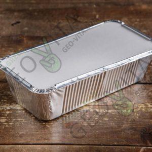 Алюминиевая форма 900 мл. с крышкой © GEOVITA - Одноразовая посуда от производителя!