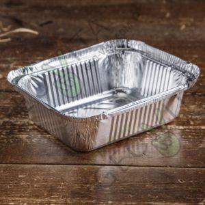 Алюминиевая форма 260 мл. с крышкой © GEOVITA - Одноразовая посуда от производителя!
