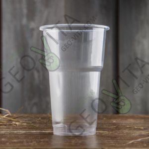 Пластиковый стакан 500 мл. © GEOVITA - Одноразовая посуда от производителя!