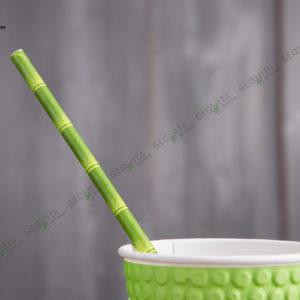 Бумажная трубочка «бамбук» © GEOVITA - Одноразовая посуда от производителя!