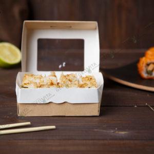 Бумажный контейнер 240 мл. самосборный © GEOVITA - Одноразовая посуда от производителя!
