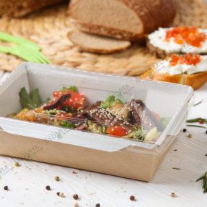 Ланчбокс с прозрачной крышкой 800 мл. © GEOVITA - Одноразовая посуда от производителя!