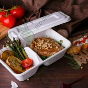 Контейнер 1000 мл. 2х. секционный © GEOVITA - Одноразовая посуда от производителя!