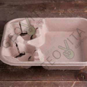 Поднос для 2х. стаканов © GEOVITA - Одноразовая посуда от производителя!