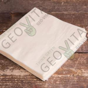 Бумажная салфетка 33*33 1 слойная шампань ПРЕМИУМ © GEOVITA - Одноразовая посуда от производителя!