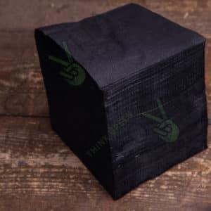Бумажная салфетка 24*24 1 слойная черная ПРЕМИУМ © GEOVITA - Одноразовая посуда от производителя!