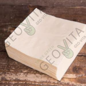Бумажная салфетка 24*24 1 слойная шампань ПРЕМИУМ © GEOVITA - Одноразовая посуда от производителя!