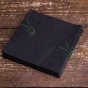 Бумажная салфетка 24*24 2х. слойная черная ПРЕМИУМ © GEOVITA - Одноразовая посуда от производителя!