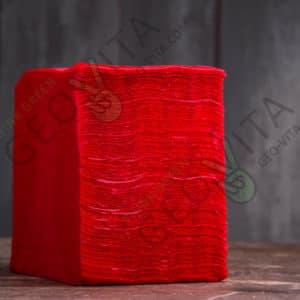 Бумажная салфетка 24*24 1 слойная красная ЭКОНОМ © GEOVITA - Одноразовая посуда от производителя!