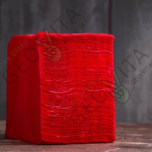 Бумажная салфетка 24*24 1 слойная красная ЭКОНОМ