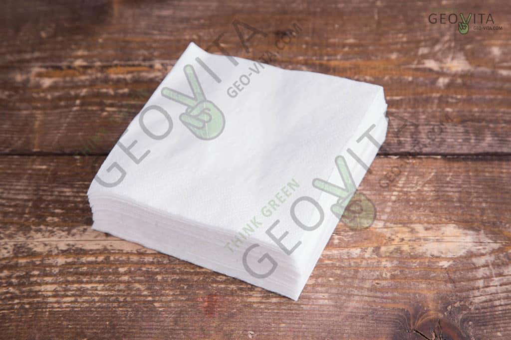 Бумажная салфетка 24*24 2х. слойная белая ПРЕМИУМ