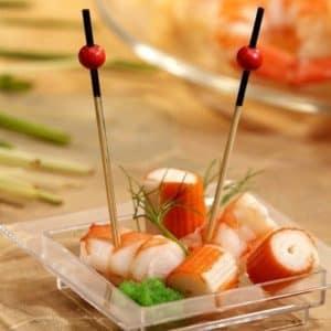 Пика «красная жемчужина» 70 мм. © GEOVITA - Одноразовая посуда от производителя!
