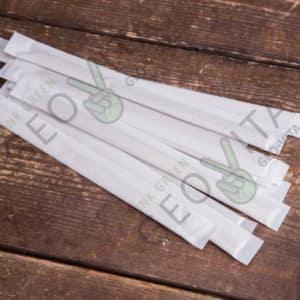 Размешиватель 140 мм. в индивидуальной упаковке © GEOVITA - Одноразовая посуда от производителя!