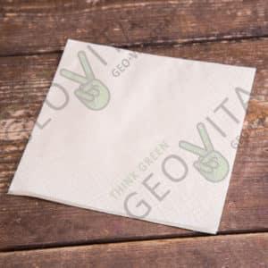 Бумажная салфетка 24*24 2х. слойная шампань ПРЕМИУМ © GEOVITA - Одноразовая посуда от производителя!