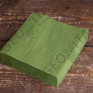 Бумажная салфетка 24*24 1 слойная фисташковая ПРЕМИУМ © GEOVITA - Одноразовая посуда от производителя!