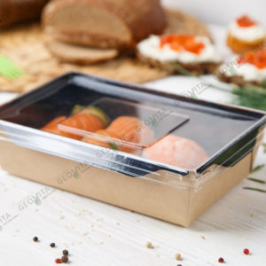 Салатник 800 мл. «Black edition» © GEOVITA - Одноразовая посуда от производителя!