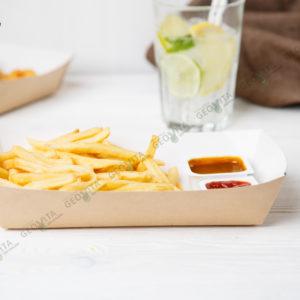 Лоток большой картонный © GEOVITA - Одноразовая посуда от производителя!