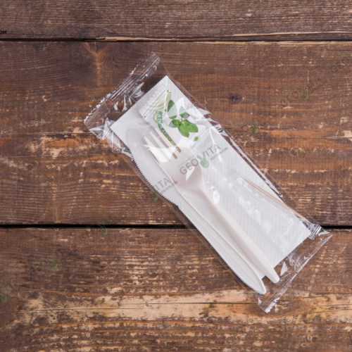 Набор одноразовых приборов 4/2 мал. «вилка/нож» +жевательная резинка