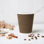 Стакан одноразовый гофрированный для кофе 350 мл. © GEOVITA - Одноразовая посуда от производителя!