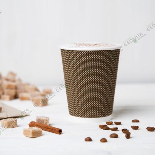 Стакан одноразовый гофрированный для кофе 350 мл.