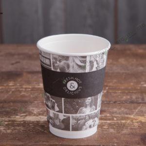 Бумажный стакан Huhtamaki CAFE NOIR 300 мл. © GEOVITA - Одноразовая посуда от производителя!