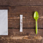 Набор одноразовых приборов 2/1  мал. зеленый «ложка» +сахар