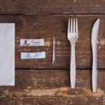 Набор одноразовых приборов 4/2 бол. «вилка/нож» +соль/перец