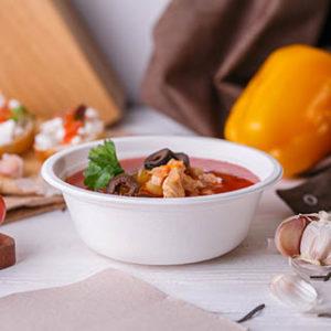 Одноразовые супницы и миски без крышки