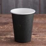 Бумажный стакан 400 мл. черный
