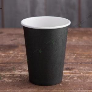 Бумажный стакан 400 мл. черный © GEOVITA - Одноразовая посуда от производителя!