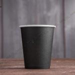 Бумажный стакан 250 мл. черный