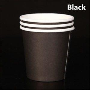 Бумажный стакан 120 мл. черный © GEOVITA - Одноразовая посуда от производителя!