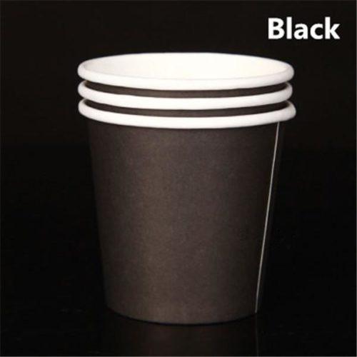 Бумажный стакан 120 мл. черный