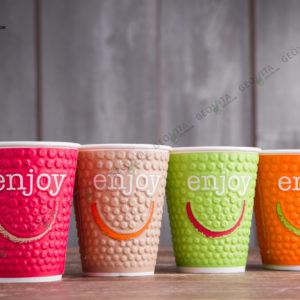 Бумажный стакан Huhtamaki ENJOY 200 мл. © GEOVITA - Одноразовая посуда от производителя!