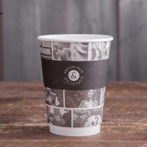 Бумажный стакан Huhtamaki CAFE NOIR 200 мл. © GEOVITA - Одноразовая посуда от производителя!