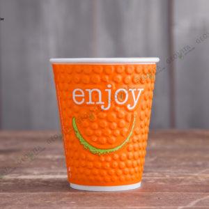 Бумажный стакан Huhtamaki ENJOY 400 мл. © GEOVITA - Одноразовая посуда от производителя!