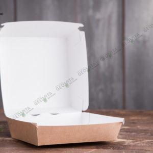 Бургербокс крафт L © GEOVITA - Одноразовая посуда от производителя!
