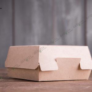 Бургербокс крафт М © GEOVITA - Одноразовая посуда от производителя!