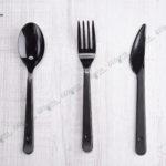 Пластиковый нож черный