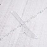 Пластиковый нож прозрачный