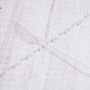 Пластиковый нож прозрачный © GEOVITA - Одноразовая посуда от производителя!