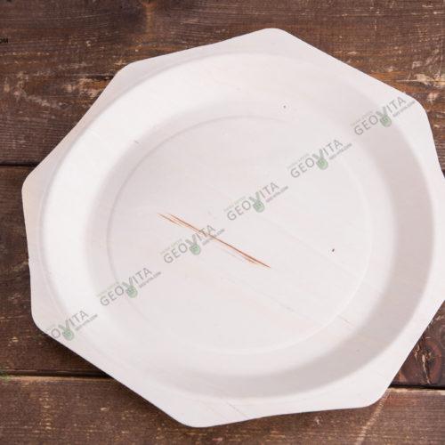 Деревянная тарелка ромбовидная