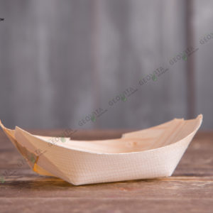 Деревянная лодочка 115 мм. © GEOVITA - Одноразовая посуда от производителя!