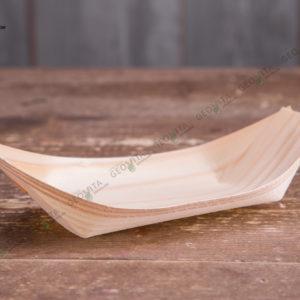 Деревянная лодочка 185 мм. © GEOVITA - Одноразовая посуда от производителя!
