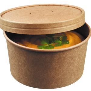 Контейнер бумажный для супа © GEOVITA - Одноразовая посуда от производителя!
