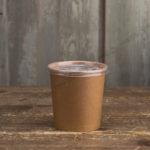 Контейнер для супа крафт с пластиковой крышкой